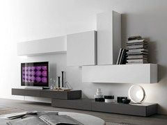 Sectional TV wall system CF38 - Presotto Industrie Mobili