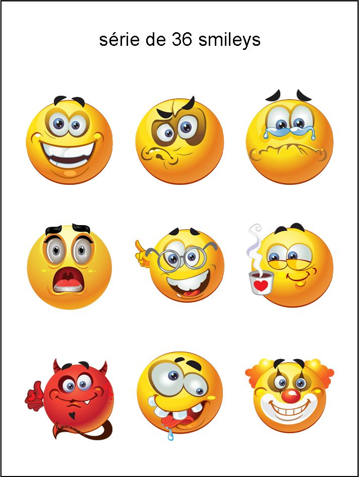 AL - collection de visages - smiley émoticône clipart cartoon - téléchargement gratuit et sans inscription