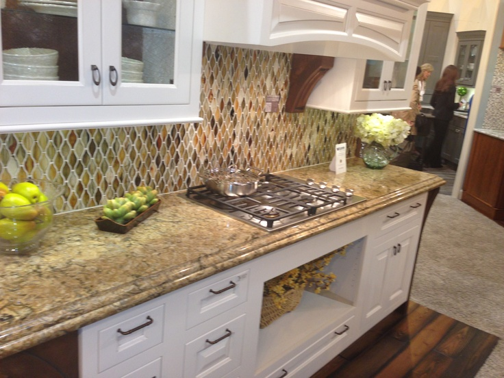 Cambria berkeley at wellborn cabinet inc booth at kbis for Cambrian kitchen cabinets