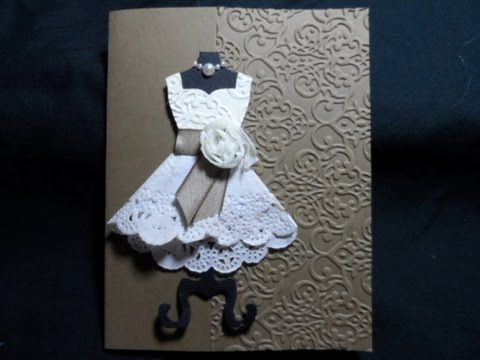 Adorable!! Doily Dress card - YouTube