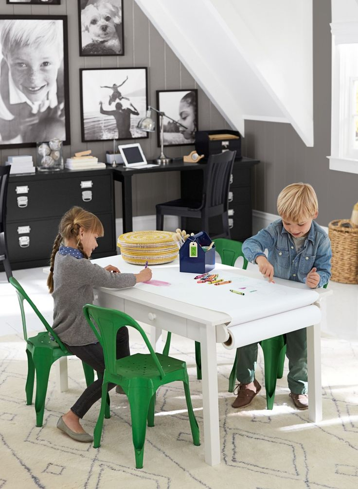 Play tables made to adapt to a growing kids' needs.  Perfect for growing children!
