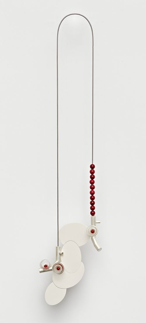 Katja Prins, Necklace, 2012 silver, reconstructed stone, glass, steel