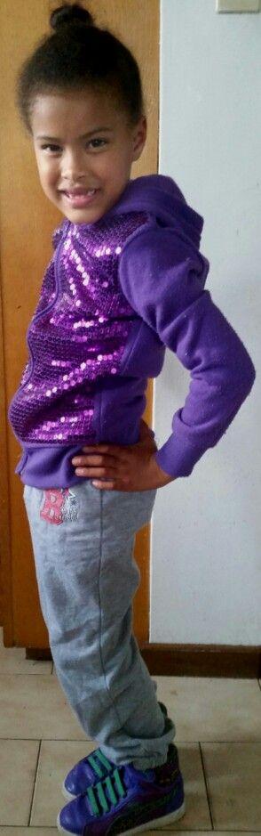 Purple sequin tracktop; trackpant; purple tigerprint #puma