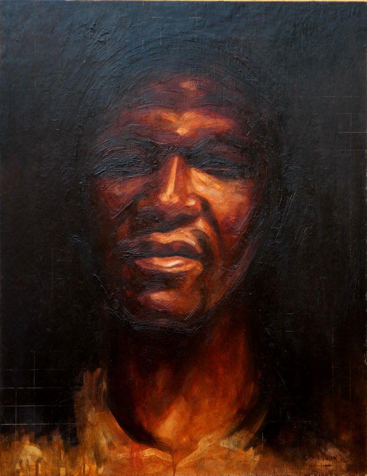 'Doub't, oil on paper,78cm x 60cm