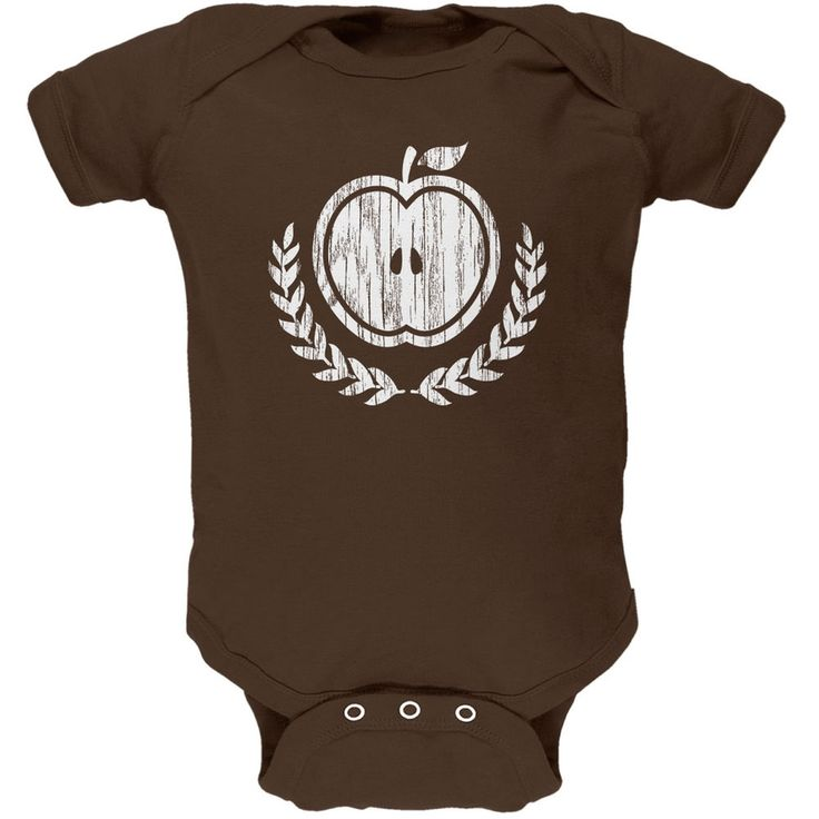 Baby Shower Theme Apple of My Eye Rustic Brown Soft Baby One Piece