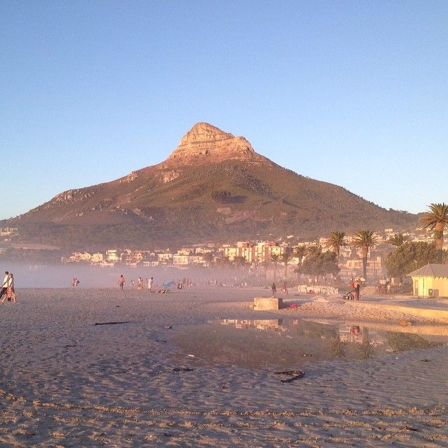 Lions's Head at sunset from Camps Bay - On Valentines Day 2014|TheOneK.com