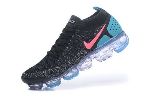 01a6350f003a Best Quality Nike Air VaporMax 2.0 Flyknit Black Gunsmoke Blue Orbit 942843- 004