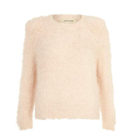 Pale orange fluffy jumper £30.00