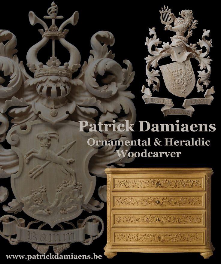 Patrick Damiaens   Ornamental woodcarver   heraldic woodcarver