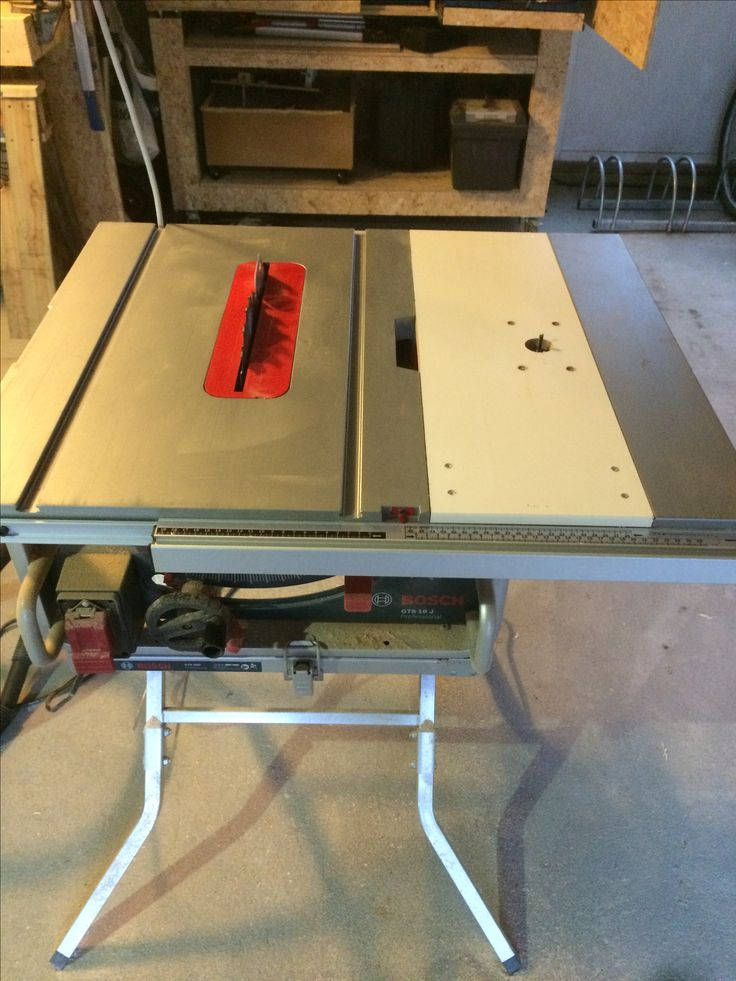 Router insert in Bosch table saw