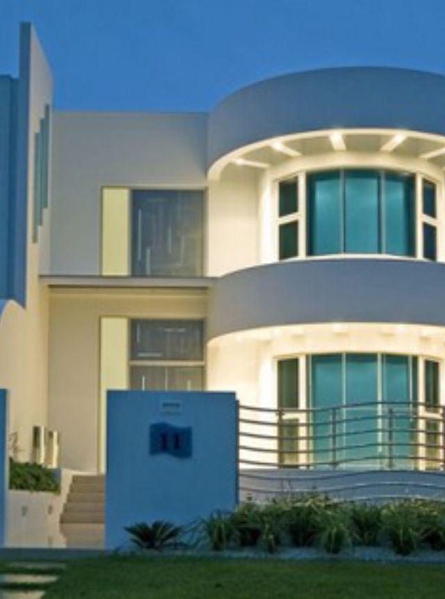 76 best art deco buildings images on pinterest art for Streamline moderne house plans