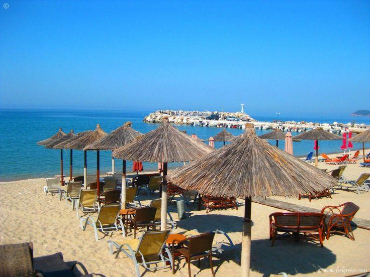 the beach of Potos, Thassos Island