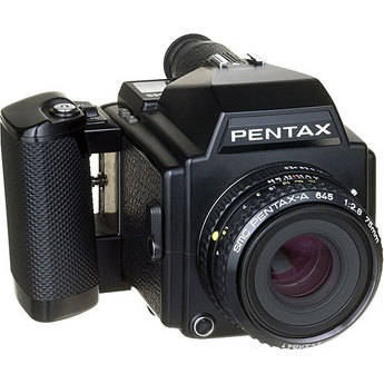 Pentax 645 Medium Format Manual Focus Camera Body with 75mm f/2.8 Lens and 120 Film Insert