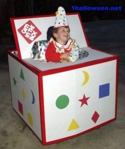 Jack in the Box Halloween wheelchair costume