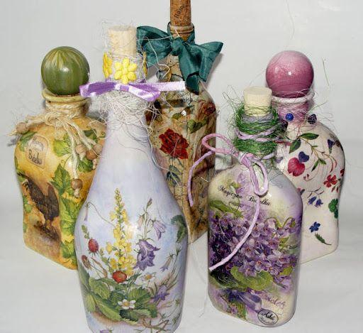 Ideas country y algo m s botellas decoradas con - Botellas de plastico decoradas ...