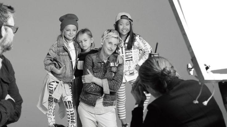"""Ellen DeGeneres: """"My clothing line gives girls the voice I never had."""" -- #GenderNeutral #GenderExpression #EllenDeGeneres #GapKids #LGBTQ"""