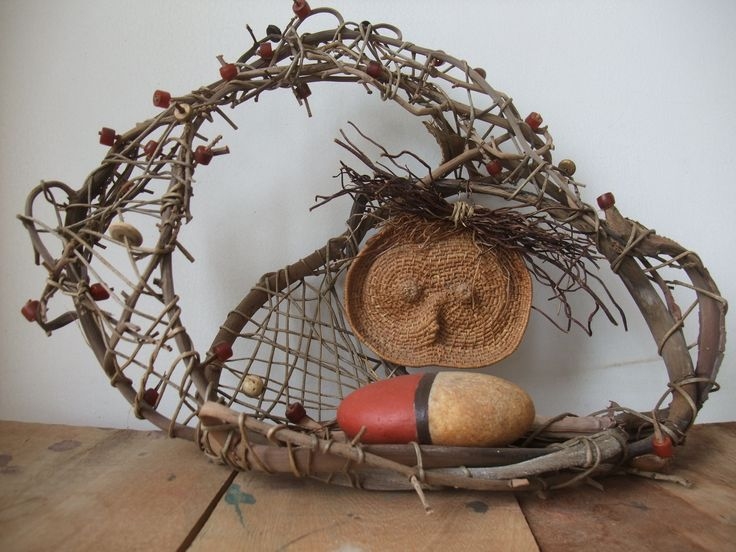 fibre piece I fashioned one day from found materials. (made the raffia mask previously)