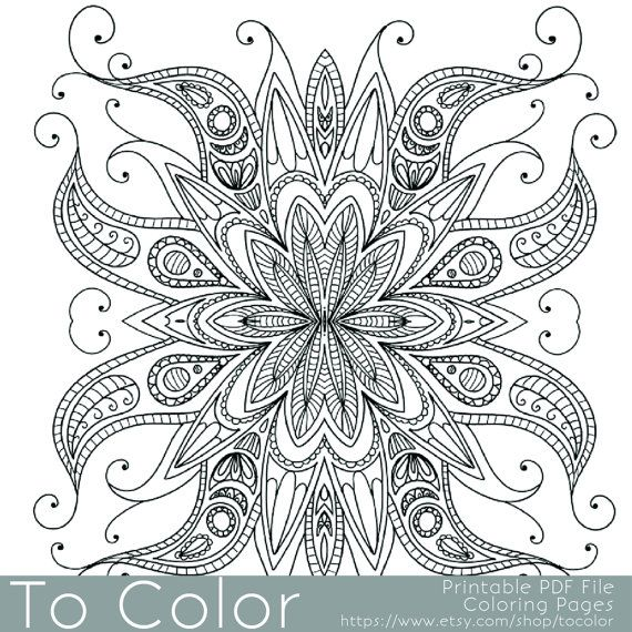 Intricate Coloring Pages For Adults Printable : Intricate printable coloring pages for adults gel pens
