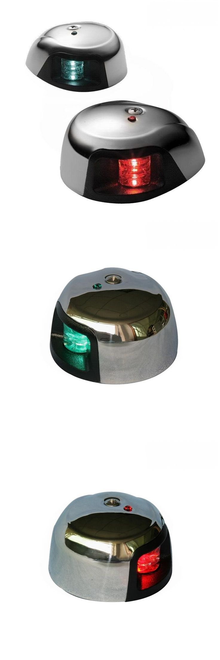 [Visit to Buy] 3500 Series - Marine Boat Yacht 1Nautical Mile LED Navigation Lights / Red&Green LED Port & Starboard Sidelight - One Pair #Advertisement