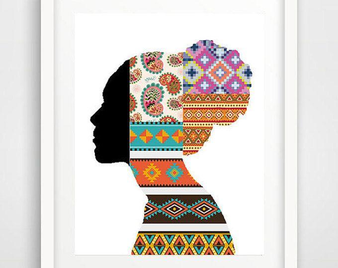 Arte africana della parete, poster cool, arredamento africano, arte della parete sala da pranzo, afrocentric arte, pareti fredde arte, donna africana, dormitorio camera arte