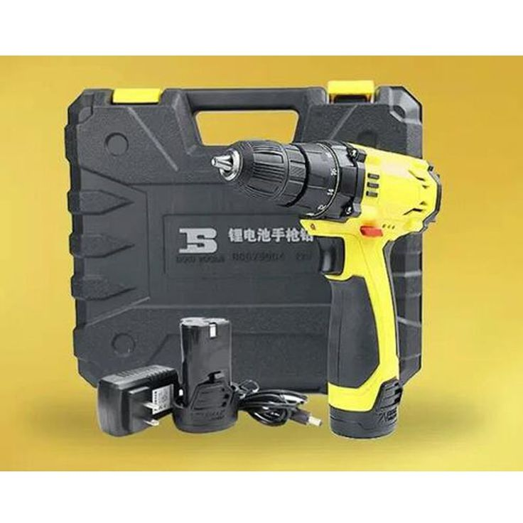 155.00$  Buy now - http://aliytu.worldwells.pw/go.php?t=32732799415 - free shipping BOSI 12V lithium chargeable 10mm cordless power drill tool kit