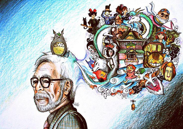 Hayao Miyazaki By Aadavy