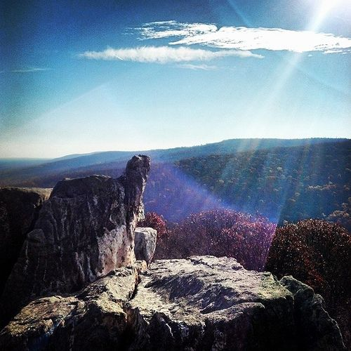 Took this up on Chimney Rock at Catoctin Mountain Park in Maryland.  Stellar day and a great hike/climb.  Photo by C.A. Smith