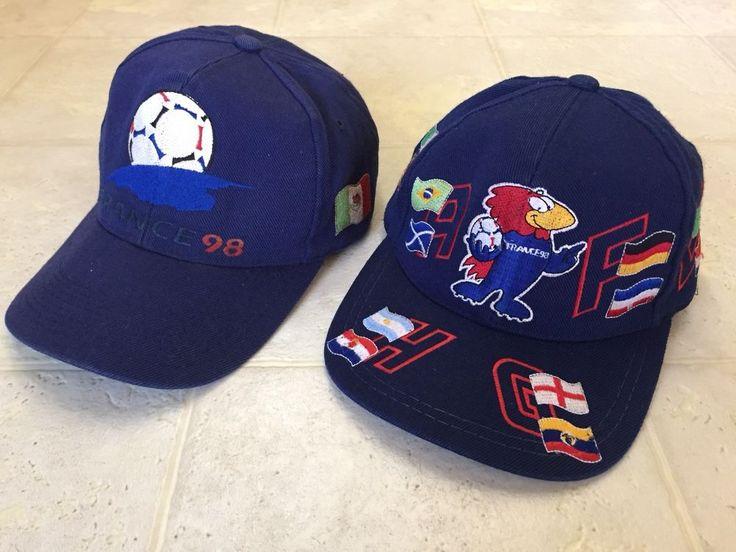 World Cup 98 France Snapback Hat Cap Lot Vintage Vtg Mexico Soccer Flags  | eBay