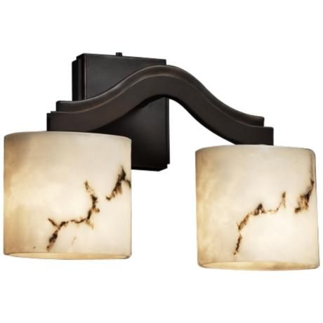 "LumenAria Collection Bend 10 3/4"" High 2-Light Wall Sconce -"