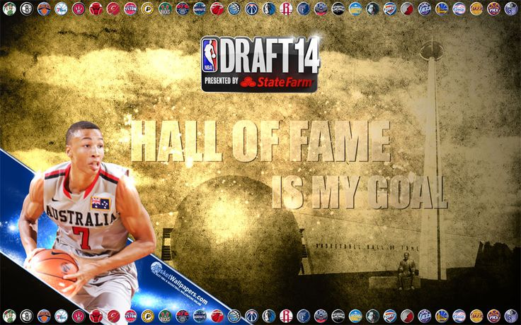 Widescreen wallpaper of Dante Exum who was #5 pick at 2014 NBA Draft... Full size available for download at - http://www.basketwallpapers.com/Australia/Dante-Exum/
