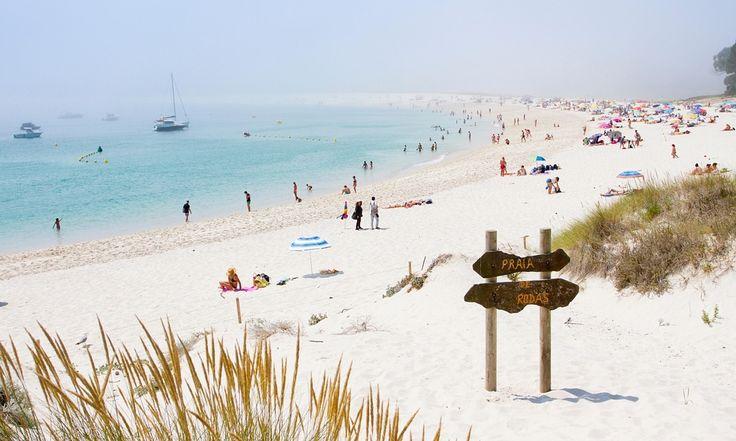 Rodas beach, on the Cíes Islands near Vigo, Spain