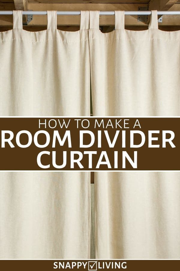 how to make a room divider curtain