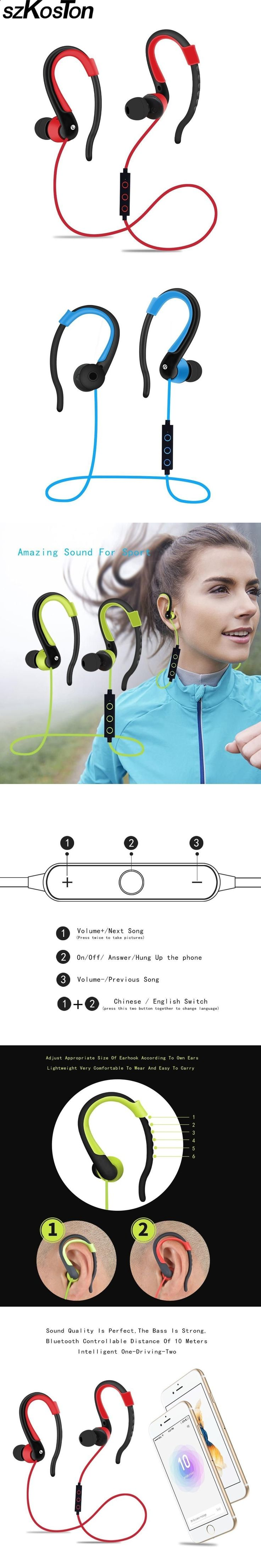 Sports Headphones - Sports Headphones - Wireless Bluetooth Earphones Super Bass Bluetooth Sport headphones Stereo Music Earbud With Microphone For Mobile Phone running - If you usually go out to run, walk or any other sport in which you usually carry music to accompany or motivate you, we have selected 13 models of sports headphones that we consider among the best in the market for different aspects, from comfort to use to design, sound quality or value for money, so that you find vari...
