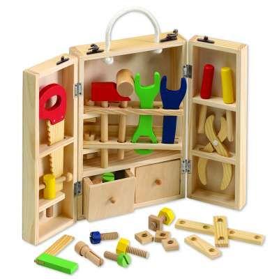 Værktøjskasse i træ - AJ Leg