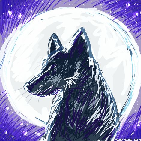 Moon by PurpleOne #gif #anim #animation #flipanim #flipbook #drawing #draw