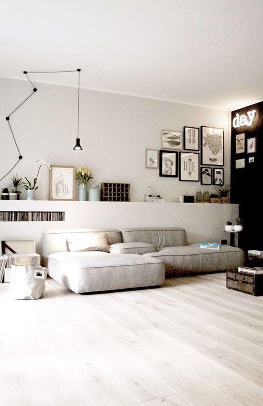 Kombi Heller Boden // Graue Wand // Weiße Decke #LampDecke