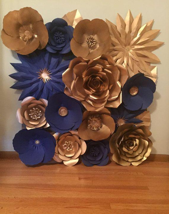 Pared de flores grandes de papel/fondo  personalizar su