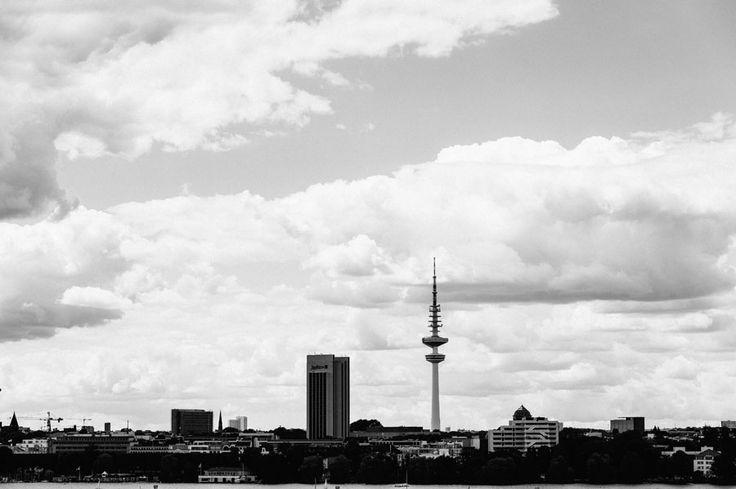 Wunderschöner Blick über die Skyline von Hamburg
