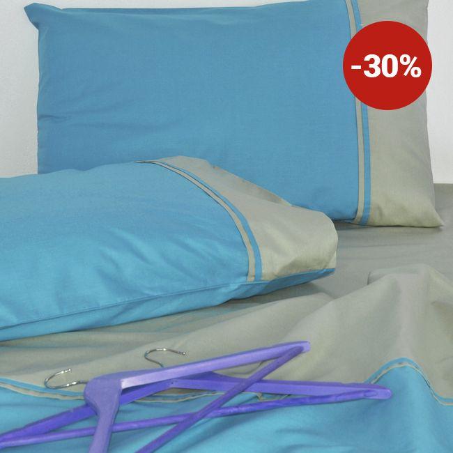 Lenjerie de pat din bumbac Valentini Bianco VKR20 Blue
