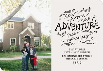New Adventure - Moving Announcements - Stacey Day - Light Gray - Gray | www.TinyPrints.com