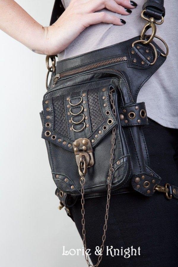 Черная кожаная набедренная сумка унисекс купить на AliExpress