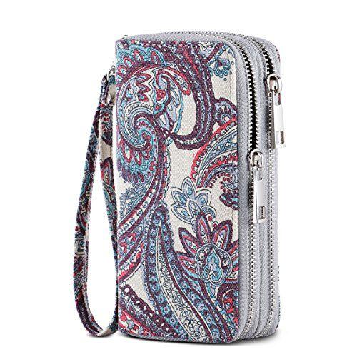d059adf2d 15.89  Big Discount HAWEE Cellphone Wallet for Women Dual Zipper ...