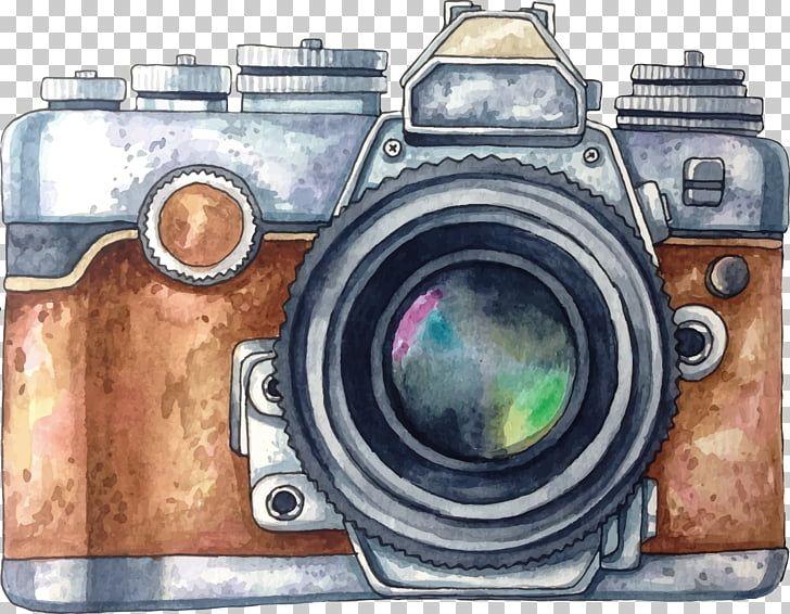 Camara Acuarela Dibujo Camara Pintada Ilustracion De Camara Gris Y Marron Png Clipart Camera Drawing Camera Illustration Camera Painting