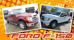 Driving a good-looking Ford-F150 that is taken care of very well.