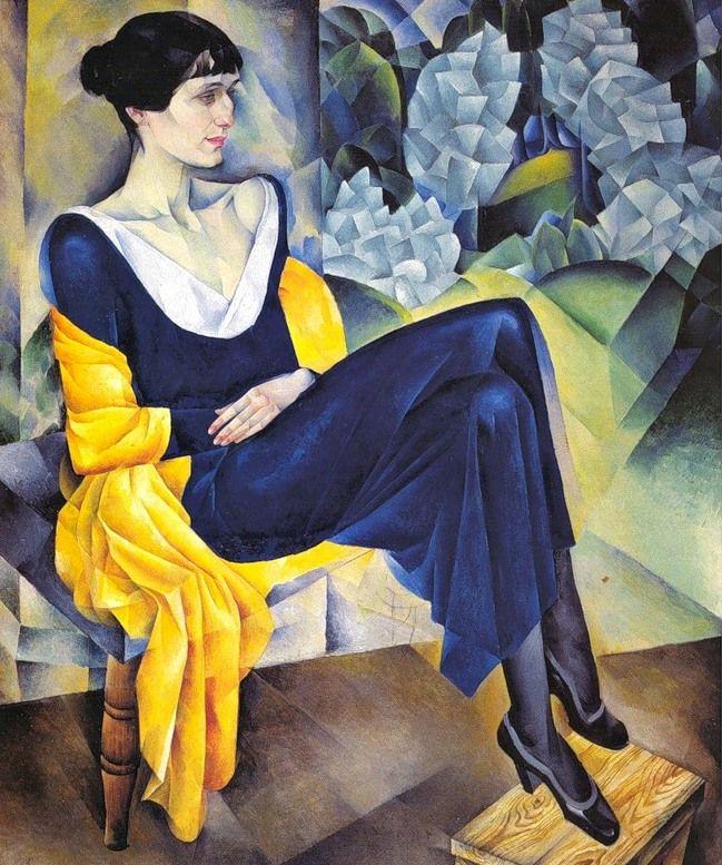 Kuzma Petrov-Vodkin - Anna Akhmatova