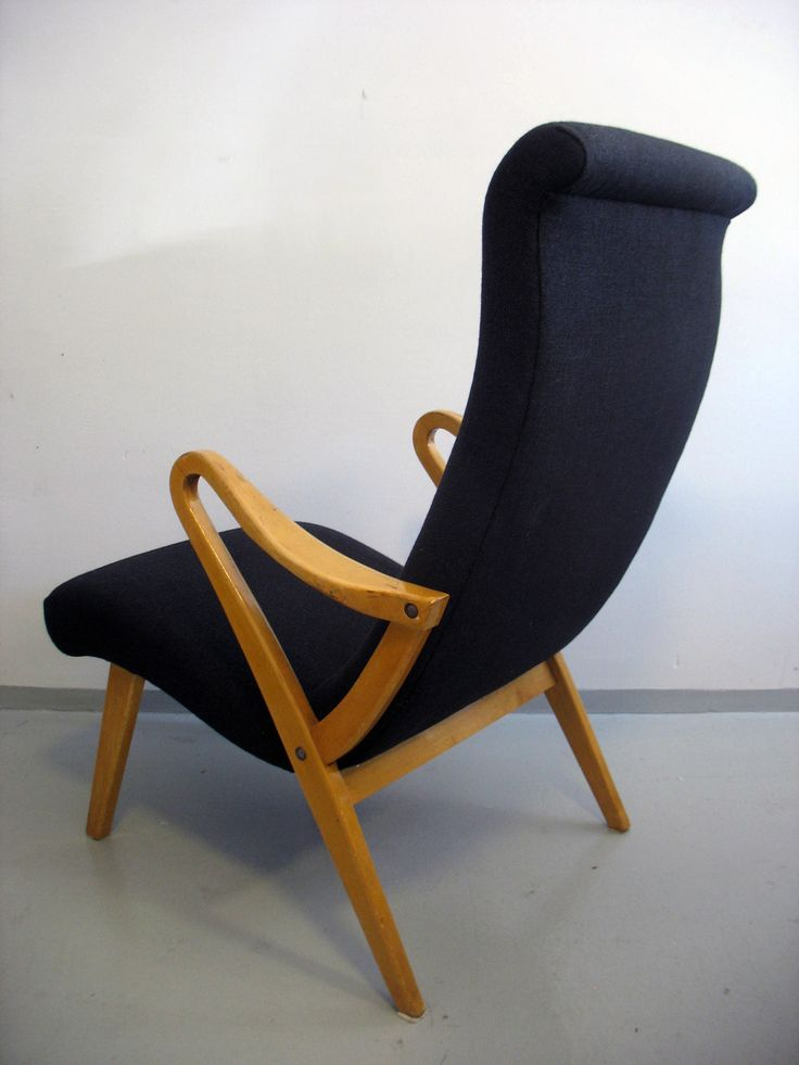 Vintage-nojatuoli verhoiltiin Svenssonin Rami-villakankaalla