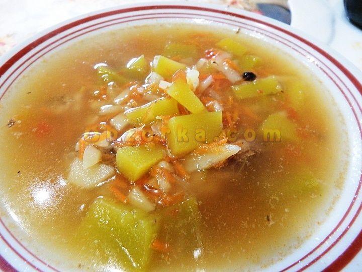 Суп с тыквой на курином бульоне