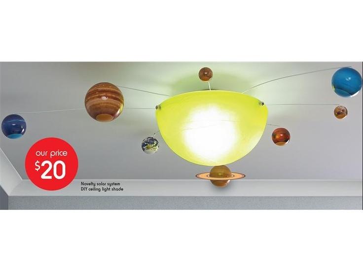 Novelty Solar System DIY Ceiling Light Shade | It's my birthday ...