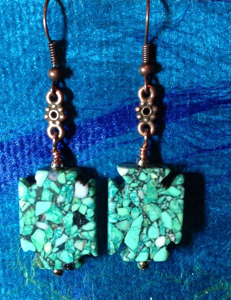 Natalie Ettinger was my partner for this bead swap. She found these beads at a bead store in Tennessee.  I really like the way the copper shows off the colors in the beads.