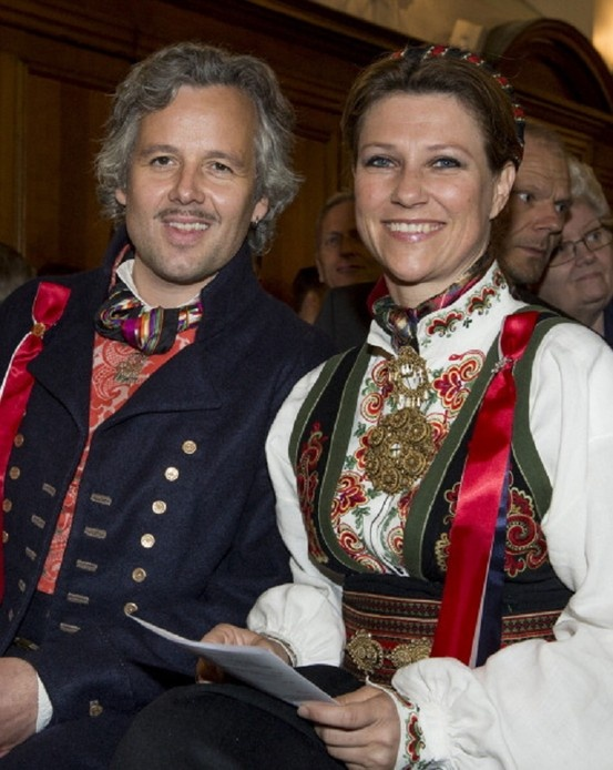 Princess Martha Louise and Ari Behn at the Noweigan church as they celebrate Norway National Day on 17 May 2013 in London, England